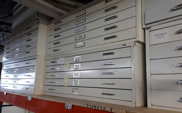 Used Blueprint Cabinets, Barrys Office Furniture, North York, Toronto GTA