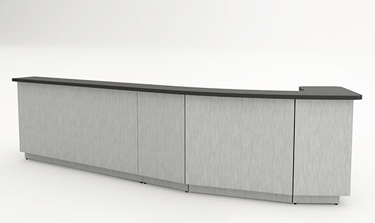 Custom Reception, Gallery Desk