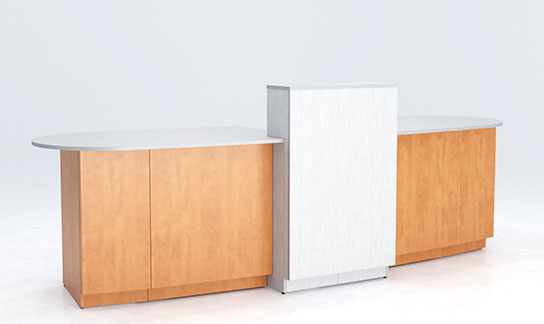 Custom Reception Desk, Gallery Front