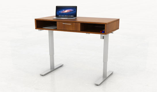 Height Adjustable Storage Desk