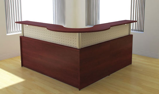 L Metal Divider Reception, IOF Desk