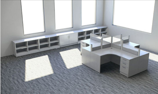 Quad Station, Mixed Privacy, IOF Collaborative Desk