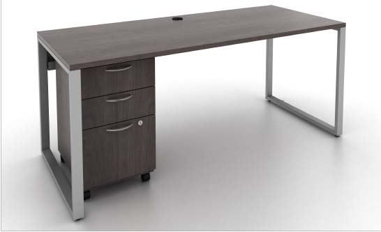 O Leg Desk & Mobile, Barrys Office Furniture, North York, Toronto GTA