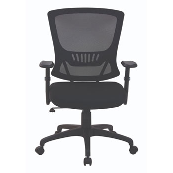 Mesh Back & Seat Locking Tilt Task Chair, front view