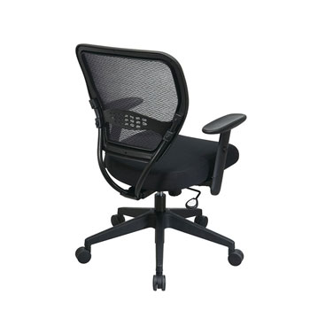 Professional Black AirGrid® Back Managers Chair, back view
