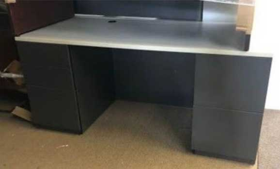 Used Double Pedestal Desk, Barrys Office Furniture North York