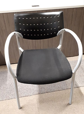 Used Keilhauer Stackable Chair, front view
