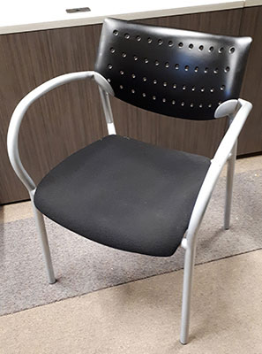 Used Keilhauer Stackable Chair, side view