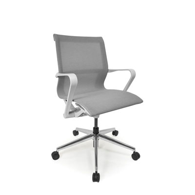 C4 Mesh White Office Seating, Icon Chair, North York, Toronto GTA
