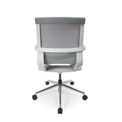 C4 Mesh White Office Seating, Icon Chair back, North York, Toronto GTA