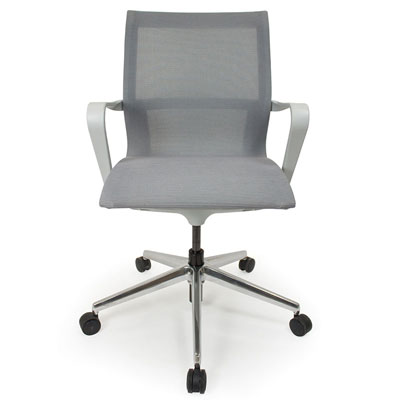 C4 Mesh White Office Seating, Icon Chair front, North York, Toronto GTA