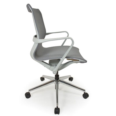C4 Mesh White Office Seating, Icon Chair side, North York, Toronto GTA