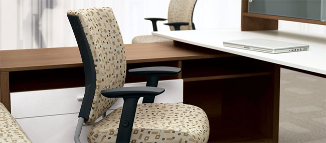Graphic Upholstered Posture Back, Global Cair. North York, Toronto GTA