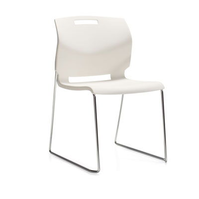 Popcorn Side Chair, Polymer Seat & Back 6711, Global Stacking Chair