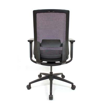 Q2 Mesh Black Office Seating, Icon Chair back,  North York, Toronto GTA