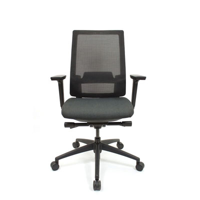 Q2 Mesh Black Office Seating, Icon Chair front, North York, Toronto GTA