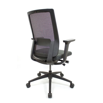 Q2 Mesh Black Office Seating, Icon Chair side back North York, Toronto GTA