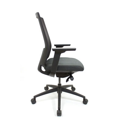 Q2 Mesh Black Office Seating, Icon Chair side North York, Toronto GTA