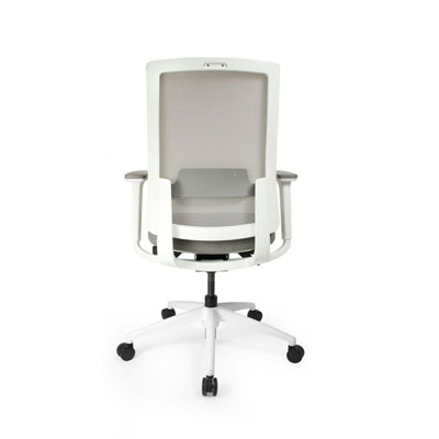 Q2 Mesh White Office Seating, Icon Chair back, North York, Toronto GTA