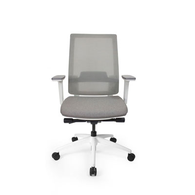 Q2 Mesh White Office Seating, Icon Chair front, North York, Toronto GTA