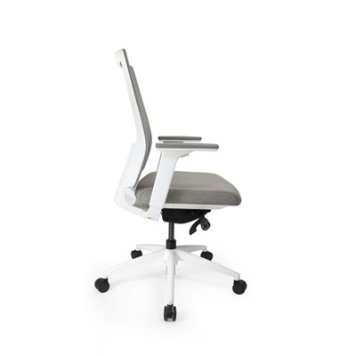 Q2 Mesh White Office Seating, Icon Chair side, North York, Toronto GTA