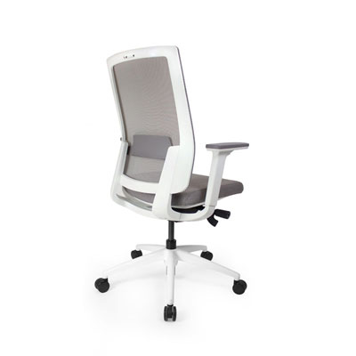Q2 Mesh White Office Seating, Icon Chair side back, North York, Toronto GTA
