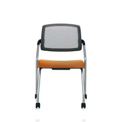 Spritz Armless Flip Seat Nesting Chair, Casters (6764C), Global Guest Chair