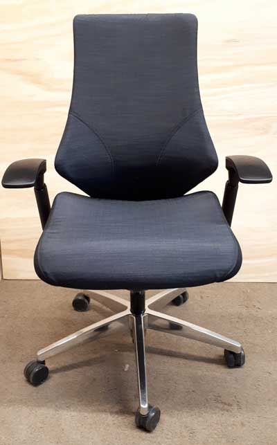 Used Spree  Upholstered Medium Back Synchro-Tilter Chair, Office Furniture North York, Toronto GTA