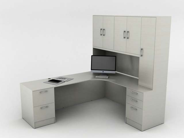 L Shape Desk with Storage, Office Furniture, Toronto GTA