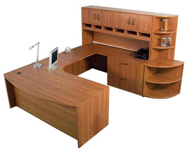 Step-In Bow Front U-Desk, IOF, Office Furniture Toronto GTA