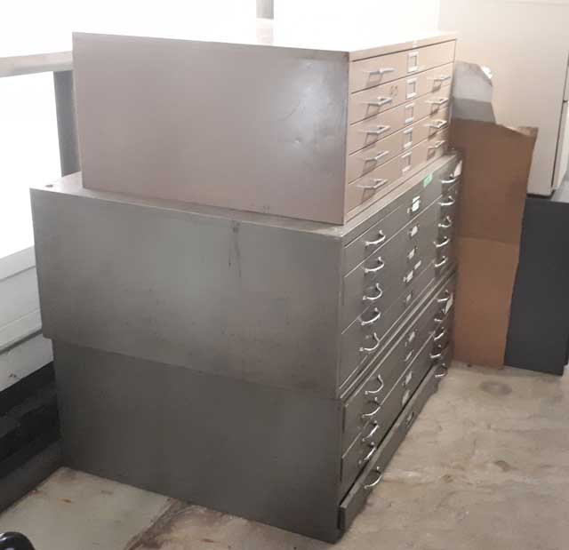 Used Blue Print Cabinets, Office Furniture, Toronto GTA