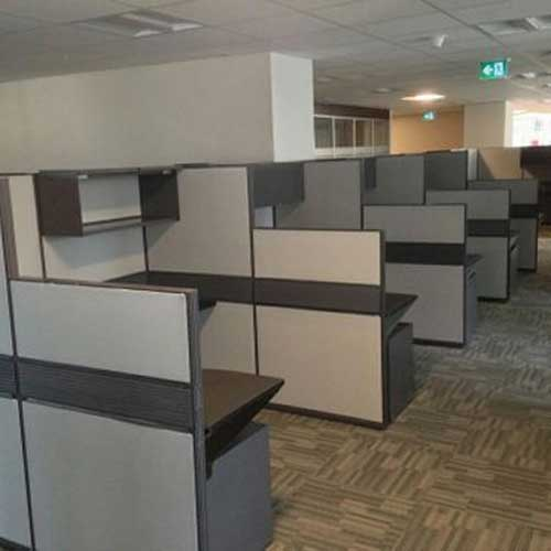 Used Cluster Workstation with Two Heights Panels, Office Furniture, North York, Toronto