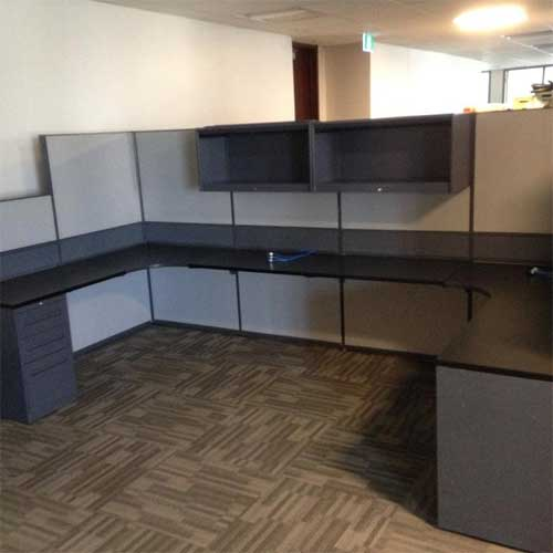 Used Dual L Shaped Workstation, Office Furniture, Toronto GTA