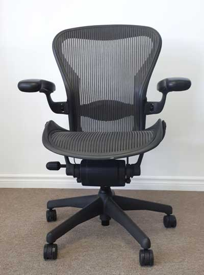 Remanufactured Herman Miller Aeron Chair, front, North York, Toronto