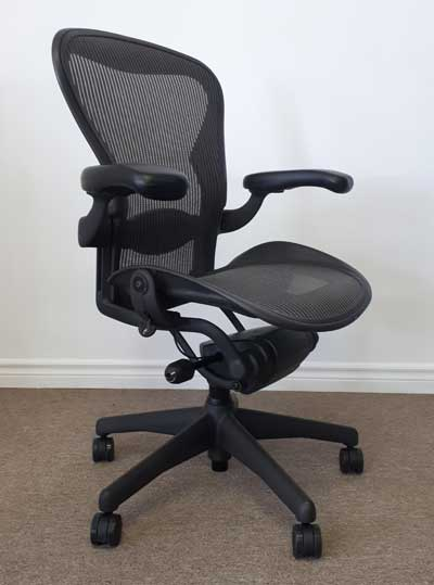 Remanufactured Herman Miller Aeron Chair, side, North York, Toronto