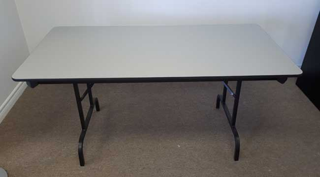 Used Laminate Rectangular Folding Table Gray, North York Toronto