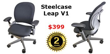 Steel Case Leap V1 Chair - March Madness Sale