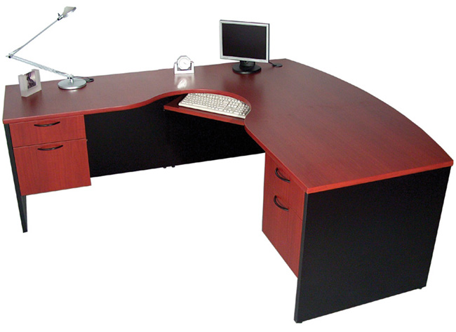 Bow Front Extended Corner Desk, Office Furniture Toronto