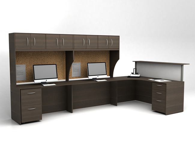 IOF Reception with Working Stations, Barrys Office Furniture Toronto