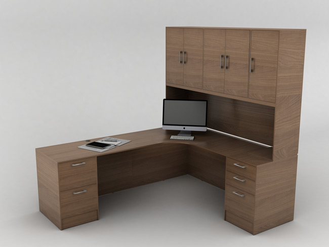 IOF L-Shape with Storage, Office Furniture Toronto GTA