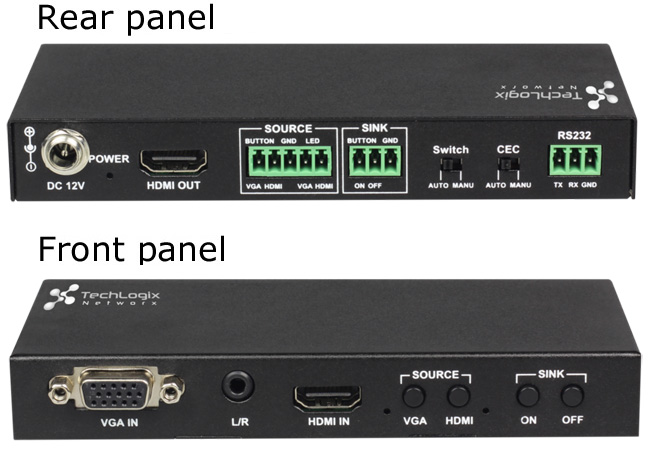 Compact Switcher 2x1 HDMI & VGA Switcher with Control, Office Furniture Toronto