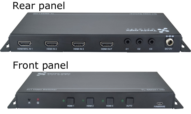 3x1 Collaboration Switcher with HDMI Inputs