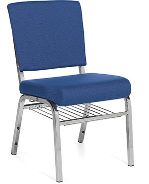 Stacking Chair with Wire Rack