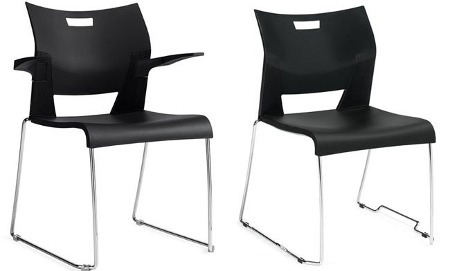 Duet Stac, Polypropylene Stacking Chairs