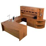 Step-In Bow Front U-Desk
