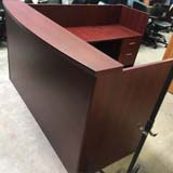 Used Mahogany Reception Desk