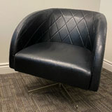 Black Vintage Leather Lounge Chair