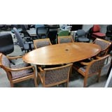 Used Oval Board Table Veneer