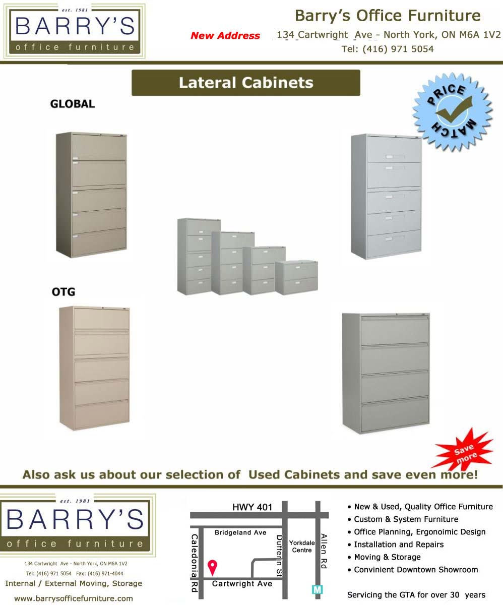 Lateral Cabinets Sale - Global Cabinets/ OTG Cabinets at Barry's Office Furniture