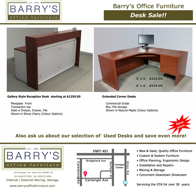 Used Desk For Sale >> Extended Corner Desk Sale Toronto Reception Desk Sale Toronto
